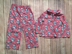 73b04922d Hello Kitty Sanrio Girl 4T Pink Stars 2-Piece Pant L/S Flannel ...