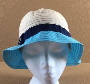 da7e127bcbe Women s Calvin Klein Beige   Blue Summer Beach Bucket Hat Cap