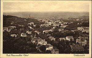 Bad-Freienwalde-Oder-alte-Ansichtskarte-1910-Totalansicht-Blick-ueber-die-Stadt