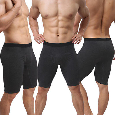 Uomo Radler-pantaloni Boxershorts Trunk 3/4 Modal-sostanza Leggings Nero S/m-