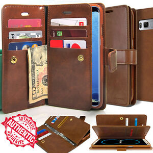 For-Samsung-Galaxy-Note-9-S9-A6-Leather-Flip-Wallet-Case-Dual-Protective-Cover