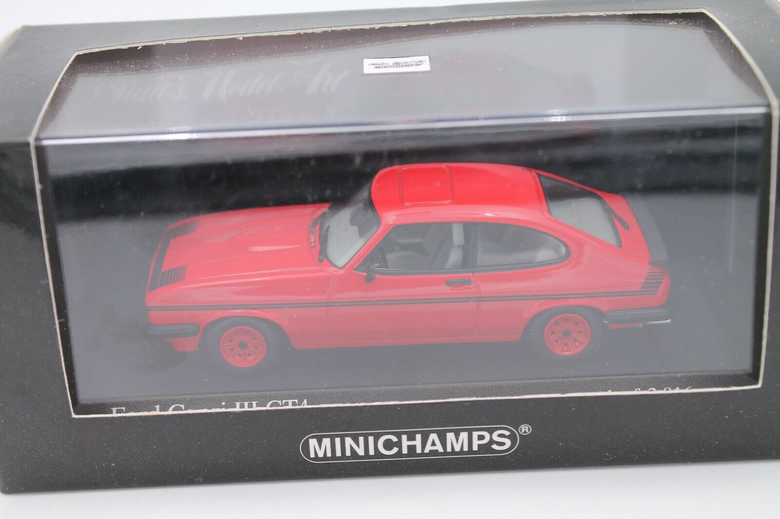 Minichamps * FORD CAPRI gt4 * 1982 * RED * LIMITED * 1:43 * OVP