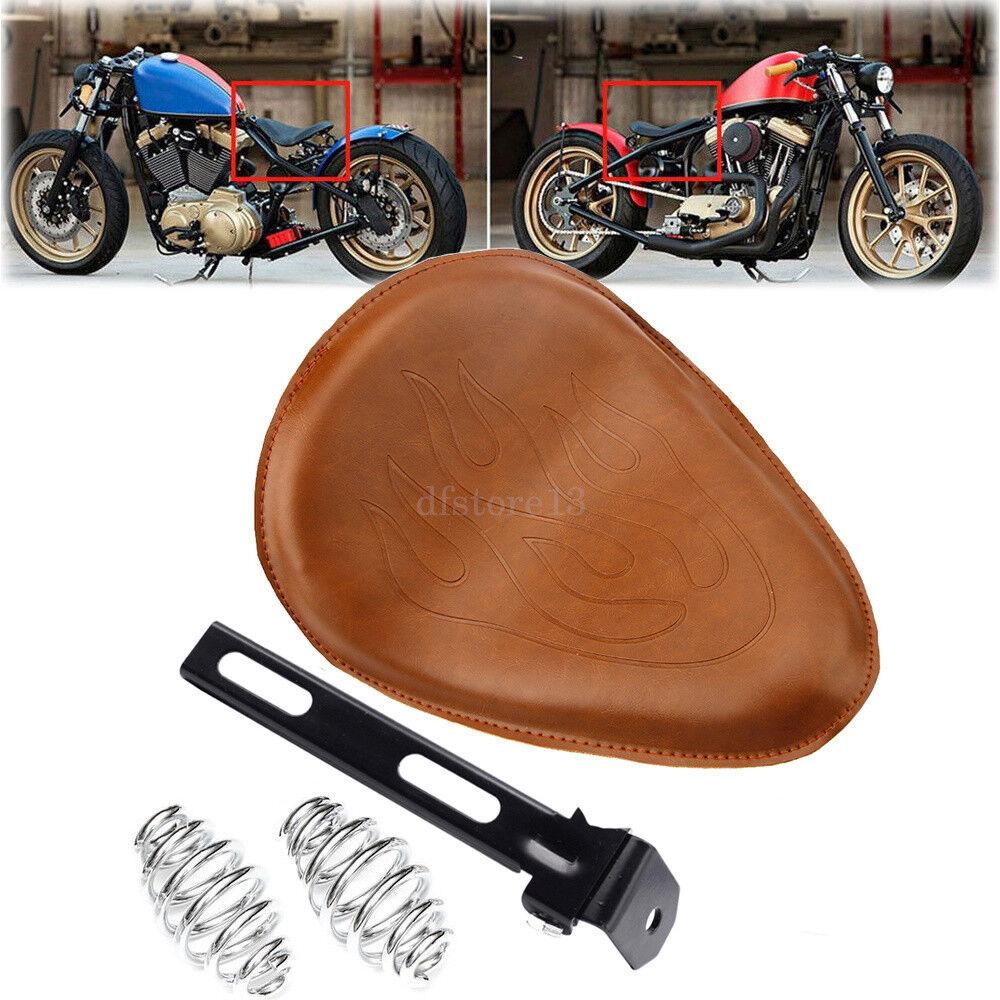 brown Motorrad Sattel Sitzfedern  3 Solo Sitz für Harley Davidson Chopper Bobber  here has the latest