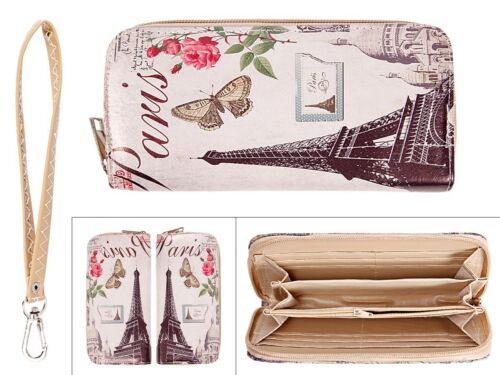 Señora-monedero Cartera Zipper-Börse monedero señora bolsa Torre Eiffel Paris