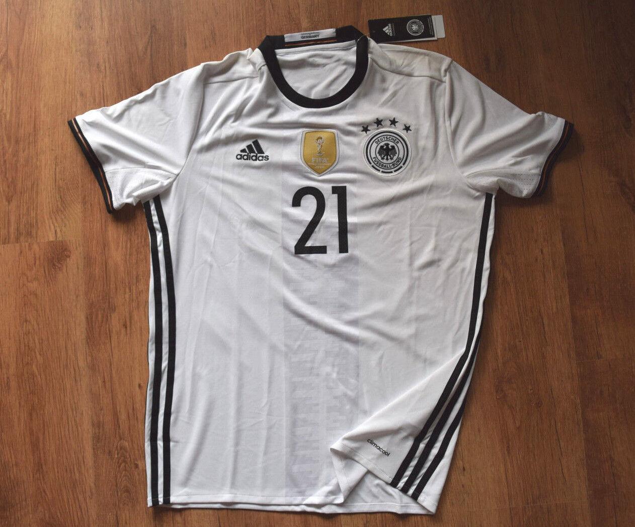 Adidas DFB Heim Trikot Gündogan 21 M L  EM 2016 Deutschland B74830 H JSY Jersey
