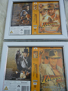 Indiana jones Last crusade amp Raiders Double Bundle Cover Vhs sleeves Framed - <span itemprop=availableAtOrFrom>Birmingham, United Kingdom</span> - Indiana jones Last crusade amp Raiders Double Bundle Cover Vhs sleeves Framed - Birmingham, United Kingdom