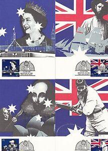 (03408) Australie maxicards Cricket-BICENTENAIRE 21 juin 1988-afficher le titre d`origine F1HtXgKI-07152810-470333224