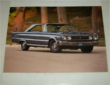1967 Plymouth GTX 2 dr ht car print (grey)