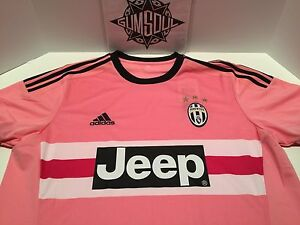 info for 1b1e7 9c548 Details about ADIDAS JUVENTUS SOCCER JERSEY JEEP PINK DRAKE ITALIA S12846  sz XL