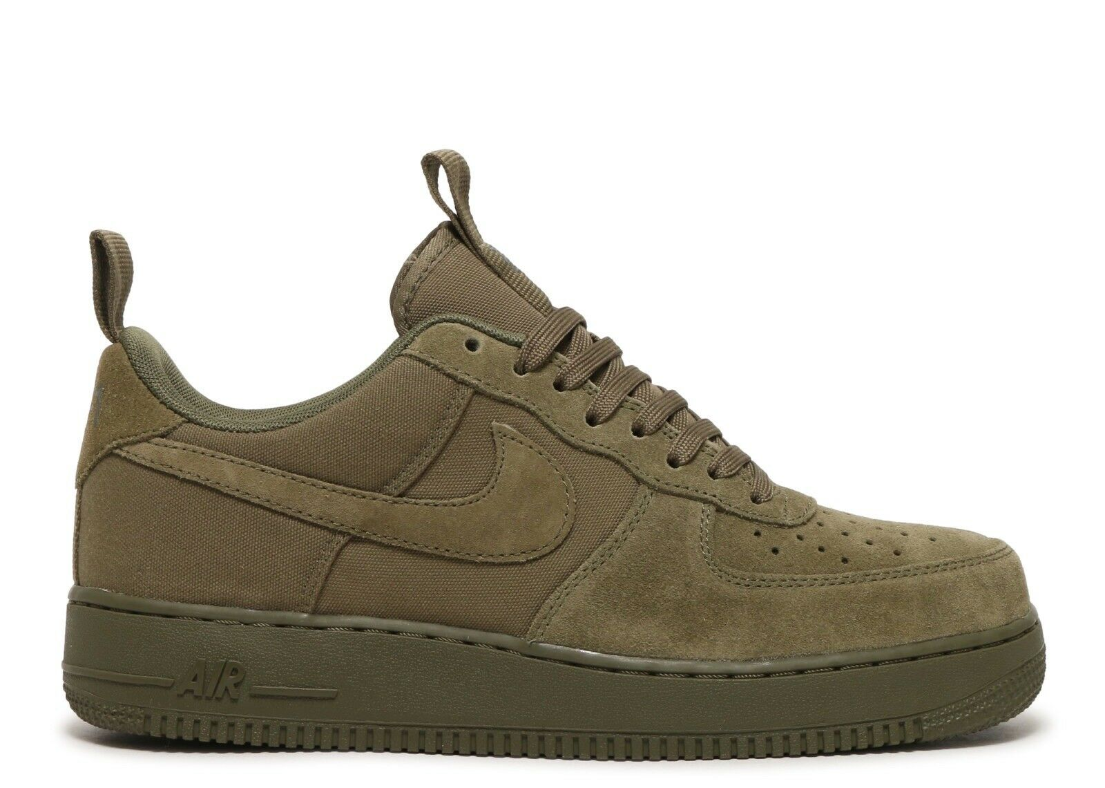 Nike Air Force 1 Canvas Mens 579927-200 Medium Olive Sequoia shoes Size 12.5