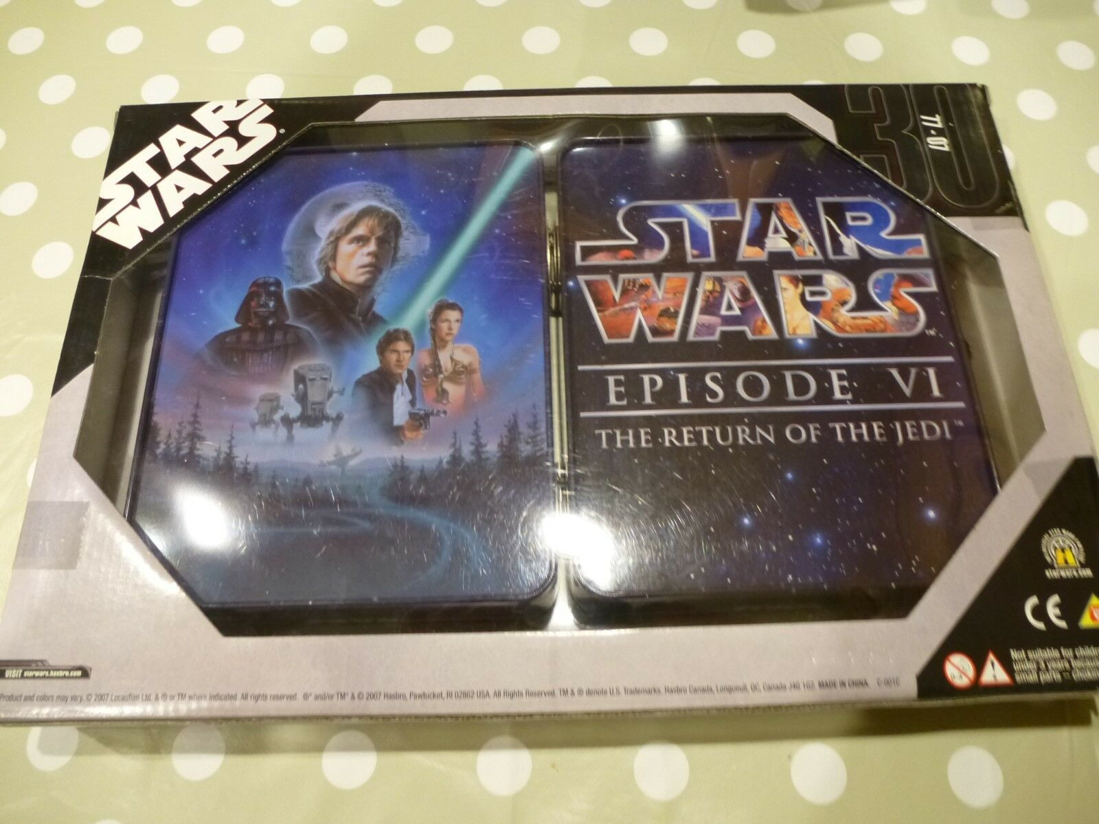 STAR WARS x3 COMMEMORATIVE TIN COLLECTION EXCLUSIVE EXCLUSIVE EXCLUSIVE EDITION 2007 HASBRO f4daf8