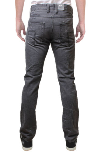 Emporio Seven New Men's Slim Fit Jeans Tapered Storm Denim Pants Grey