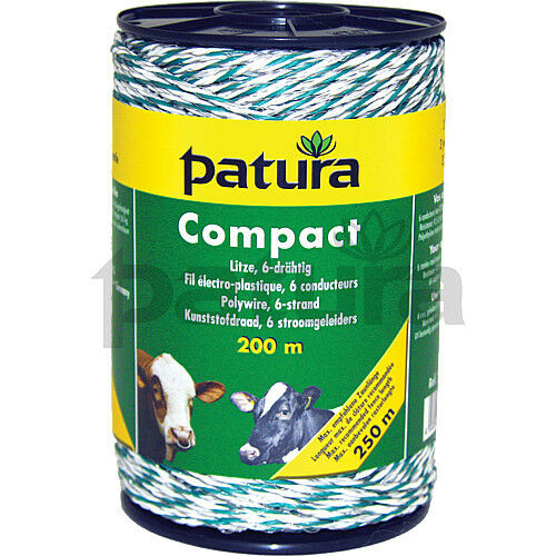 Patura  Polywire Compact - 6 Strand Stainless Steel  - White and Green 180100  authentic
