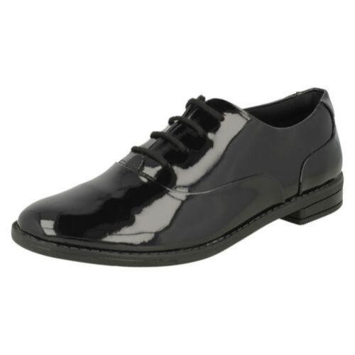Estrella' Con Calado 'dibujó Colegio Niña Clarks Cordones Cuero Zapatos De tP66qz