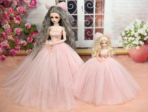 High Quality Doll Dress /& Veils Wedding Dress for 1//4 BJD Doll Clothes Kids Toy