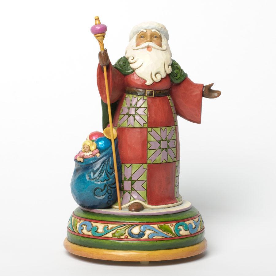 Jim Shore Heartwood Creek Creek Creek  Santa Singing Musical Figurine  4032484 57a2cb