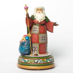 Jim Shore Heartwood Creek Santa Singing Musical Figurine