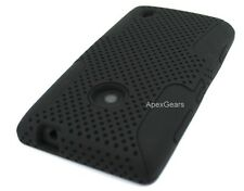 For Nokia Lumia 635 Black Hybrid Mesh Net Hard Soft Cover Case Accessory