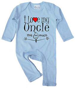 Uncle Baby Clothes I Love My Uncle This Much Baby Romper Suit Gift