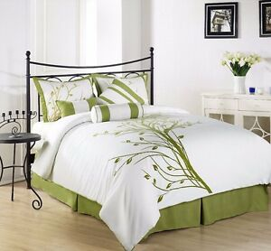 Chezmoi-Collection-7-Piece-Microfiber-Printed-Green-Tree-Comforter-Set-Full
