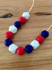Pflege Zahnen Halskette Kinderzimmer Sensorische Baby Duschen Silikon Perlen Rot Von Der Konsumierenden öFfentlichkeit Hoch Gelobt Und GeschäTzt Zu Werden