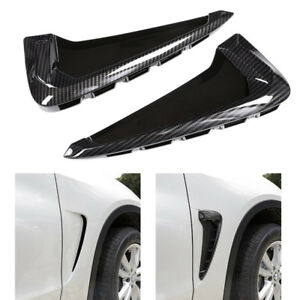 Gloss Black Side Body Marker Fender Air wing Vent Trim M For   X5 F15 2014+