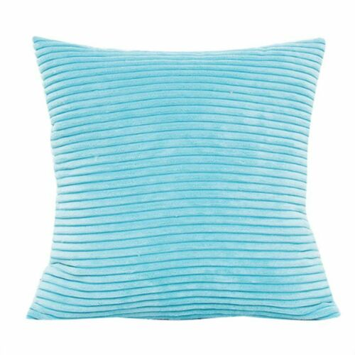Nordic Style Soft Throw Pillow Case Corduroy Velvet Striped Square Cushion Cover