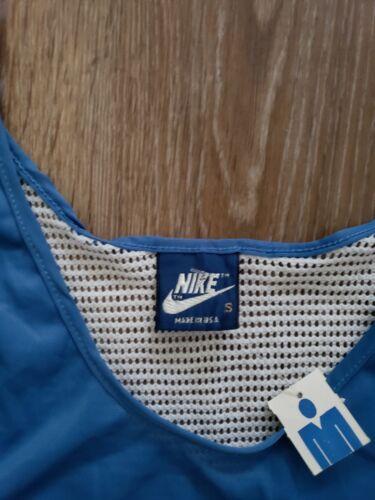 80's Made Nike Blue camiseta mangas Vintage In Tag Usa sin RqdR4