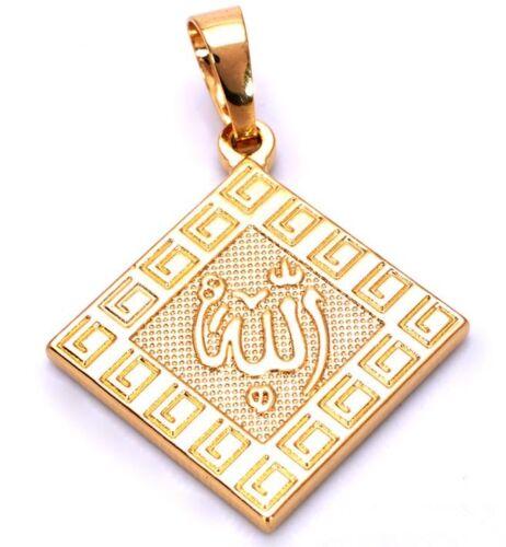 Nombre De Dios Alá en árabe Collar De Cadena Y Colgante islámica Oro Corán
