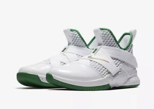 huge sale 26bdb 5aeda Image is loading Nike-LeBron-Soldier-XII-GS-IRISH-AA1352-100-