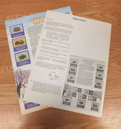Authentic African Safari World Of Stamps Collectible Series Sheet W COA READ
