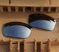 961402250e ACOMPATIBLE Polarized Lenses Replacement Silver Mirror for-Oakley Wiretap  (New)