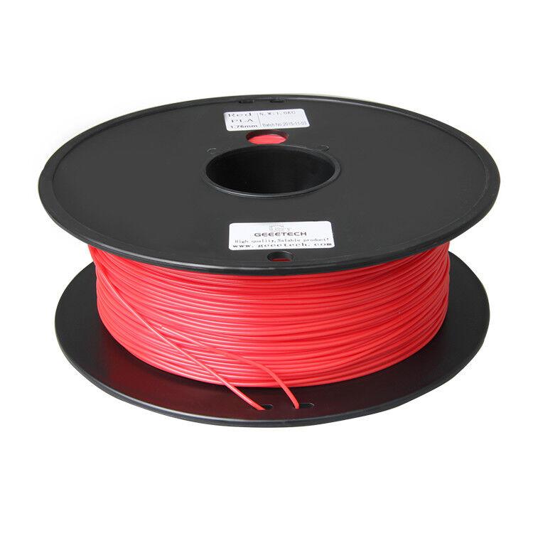 Duty Free! 2Kg 2 Rolls PLA Filament 1.75 mm Black + Red for 3D Printer GEEETECH