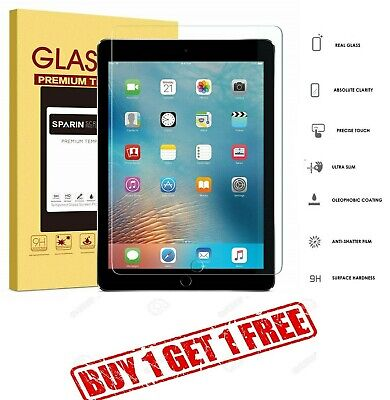 """100% Genuine Tempered Glass Screen Protector For Apple Ipad 9.7"""" 2018 Buy1 Get1"""