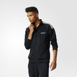 Adidas Originals Itasca Track Top Uk Size Xl Brand New With Tags Black White Activewear