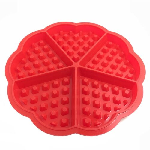 2 Style Nonstick Silicone Waffle Mould Bpa Free Biscuit Waffle Mold Cooking