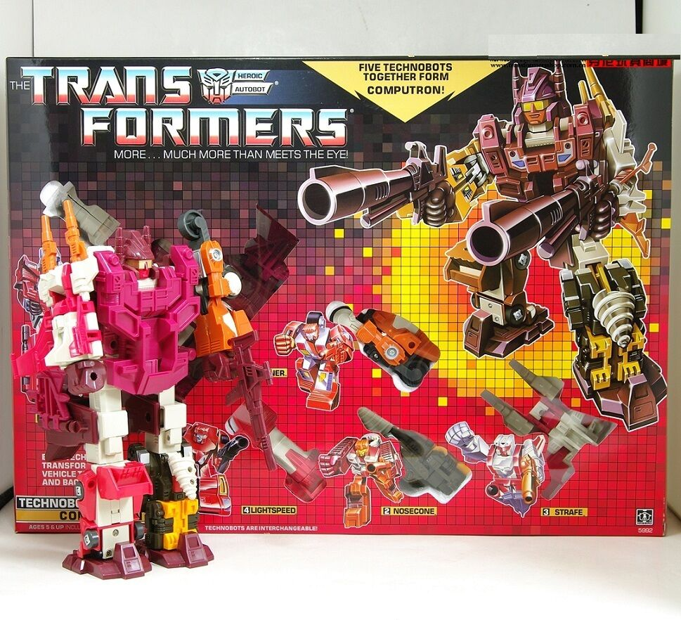 Transformers G1 re-issue Autobot Technobots combinadores Computron Colección Nueva