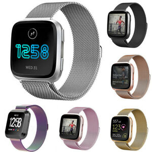 Milanese-Loop-Mesh-Wrist-Watch-Band-Strap-for-Fitbit-Versa-Stainless-Steel-Metal