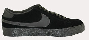 ac60f96072c Nike BLAZER LOW SB Black Midnight Fog 318960-002 (141) Men s ...