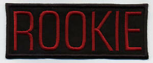 Ghostbusters-Embroidered-Name-Tag-Patch-034-ROOKIE-034-video-game-style-letters