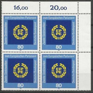 Federal-Frg-Minr-1209-Mint-Block-of-Four-Corner-2-Unfolded