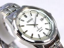 Seiko Kinetic Gents Elegant Dress Watch 100m Silver Dial SKA629P1 UK Seller