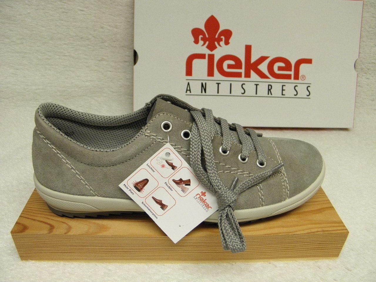 rieker rotUZIERT, Top (R322) M6014 42 Preis superbequem grau