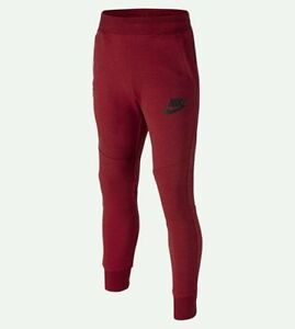 Nike Tech Fleece Pants Boy's Size Small (8-9) / Gym Red and Black