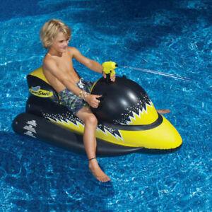 Swimline-Inflatable-Swimming-Pool-Toy-Laser-Shark-Wet-Ski-Squirter-Float-9076