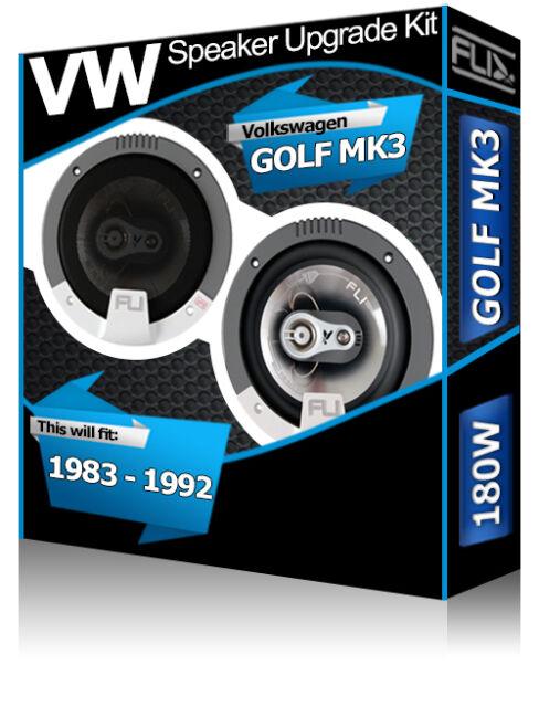 "VW Golf MK3 Front Door speakers Fli 5.25"" 13cm car speaker kit 180W"