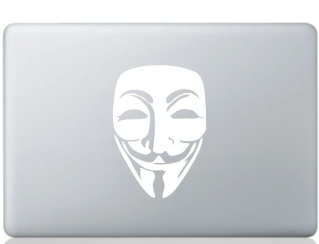 Anonymous Logo Laptop Sticker Window Decal Notebook Decal Anonymous Mask Sticker