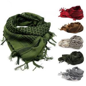 Unisexe-Leger-Plaid-Tassel-Arabe-Desert-Shemagh-keffieh-foulard-wrap-militaire