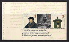 2016 GB QE2 DY16 PRESTIGE BOOKLET PANE 500 YEARS OF THE ROYAL MAIL DP494