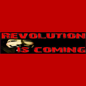REVOLUTION-IS-COMING-anonymous-Bumper-Sticker-BUY-2-GET-1-FREE-Free-S-amp-H